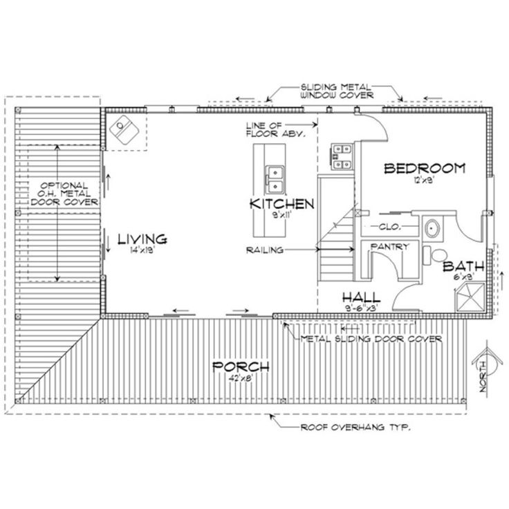 Main Floor Plan Indoor Outdoor Fireplace Sharing A