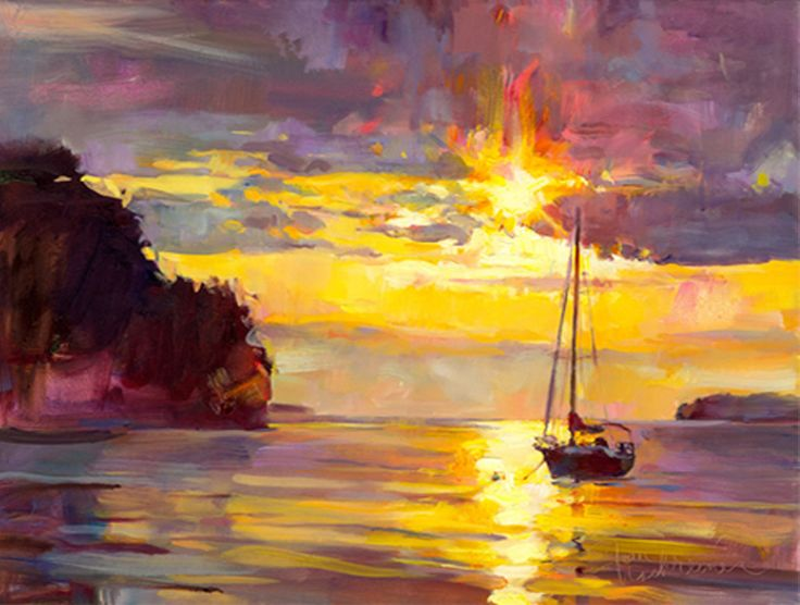 Into The Night, Painting by Tom Nachreiner