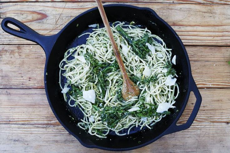 Pasta with Broccolini Pesto and Crème Fraîche recipe on Food52