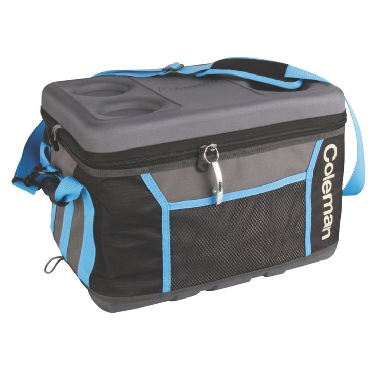 Have the convenience of a large cooler when you need one and extra storage room in your home when you don't with the Coleman® 75 Can Collapsible Sport Cooler. It's big enough to hold a full day's worth of food and drinks, but still collapses down to the thickness of a phone book when you're ready to put it away. The zippered closure with an integrated bottle opener ensures you're always ready to enjoy a cold drink. For dry goods, the front mesh pocket lets you carry more i...