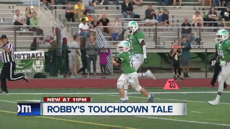 High school football manager with Down syndrome scores TD, mother with t...