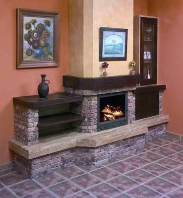 M s de 25 ideas incre bles sobre chimeneas modernas en pinterest chimenea moderna dise o de - Chimenea rustica de ladrillo ...