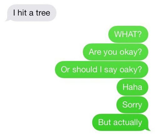 Whether they're punny… | What's The Funniest Text Message You Have Saved In Your Phone?