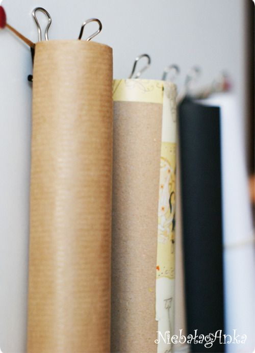 how to store wrapping paper