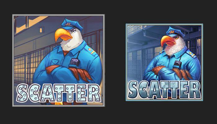 "Graphic design of symbol for the game slot machine ""Prison Escape"" http://slotopaint.com/"