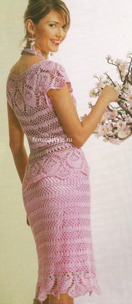 Розовый костюм крючком