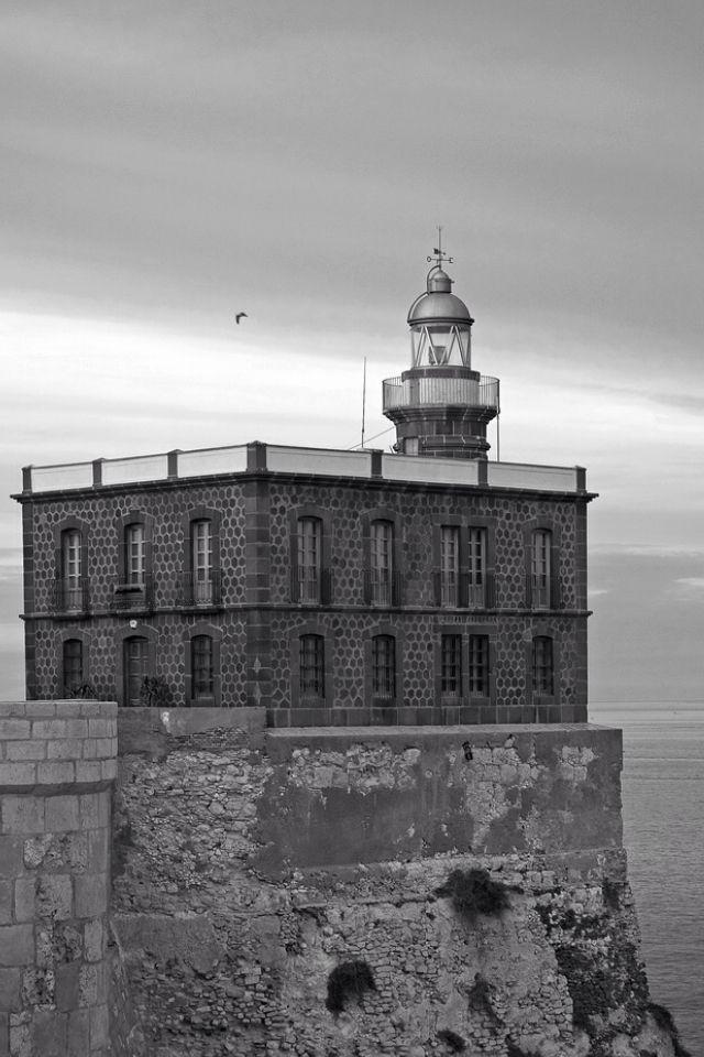 Melilla Lighthouse, Autonomous Spanish City of Melilla, Northern Coast of Morocco