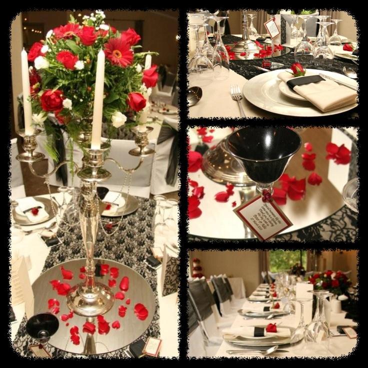WEDDING : White, Black, Red, Silver
