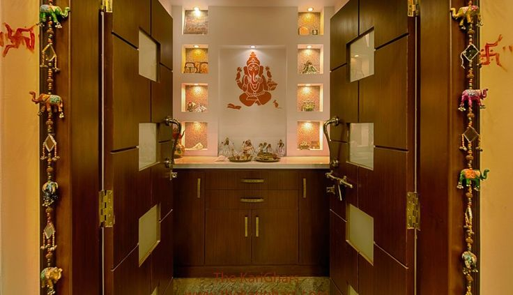 Pooja room ideas - Perfect 10 gives you an ultimate ambience that is perfectly elegant and exclusively yours. Find out more at bit.ly/1MANxb5 #Pune #Home #Punecity