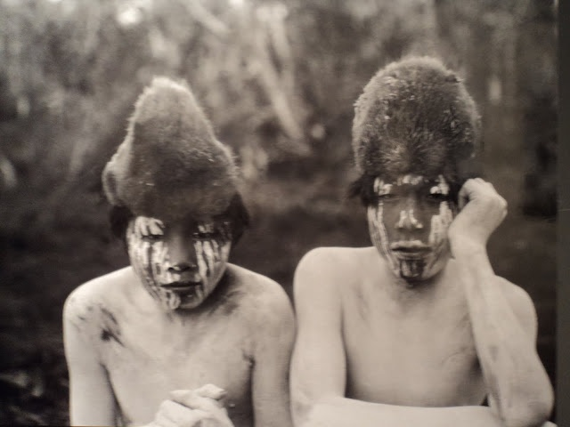 Arturón and Antonio, young initiates Hain during the 1923 ceremony, Tierra del Fuego.. Photo of Martin Gusinde.