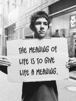 The meaning of life, is to give life a meaning. Existentialism For Beginners http://www.forbeginnersbooks.com/existentialismfb.html  #existentialism #forbeginners