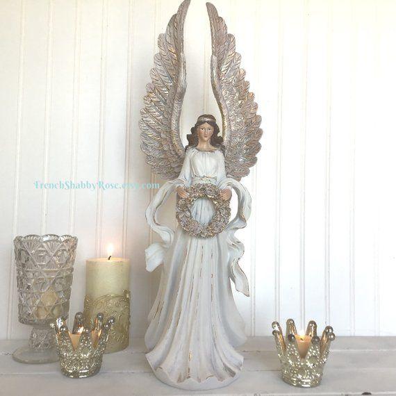 Christmas Angel Figure Hand Painted