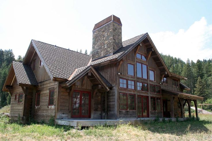 1000 images about rustic timber frame home ideas on for Barn frame homes