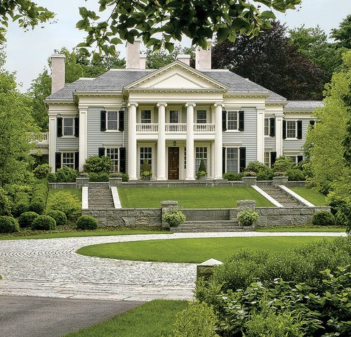 Grand Greek Revival by Dell Mitchell Architects, MA.Keith LeBlanc Landscape Architecture and R.P. Marzilli & Co.
