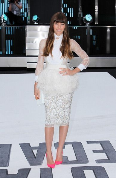 Actress Jessica Biel attends the UK Premiere of 'Total Recall'