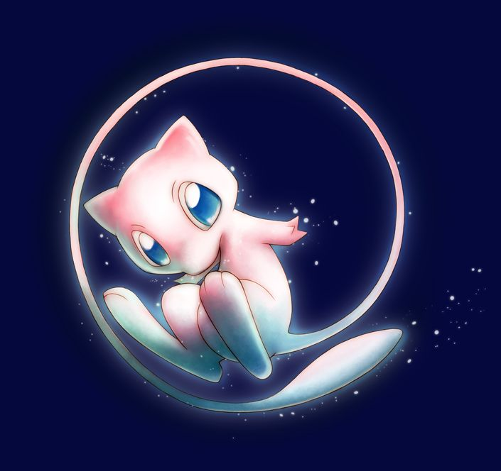 Mew is my favorite Pokemon, and this such a cute picture! it's just. so. CUTE! :3