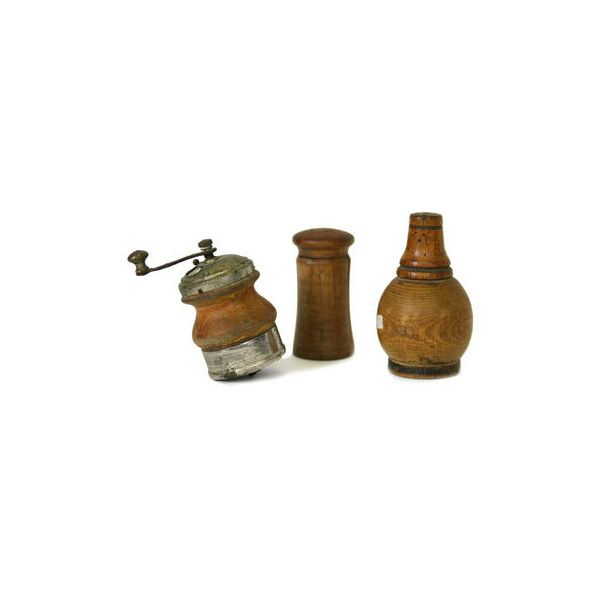 Beechwood & Ash Salt Shakers-Set of 3 > Tabletop and Culinary | The J. ($5) ❤ liked on Polyvore featuring home, kitchen & dining, serveware, accessories, decor, steampunk and salt shakers
