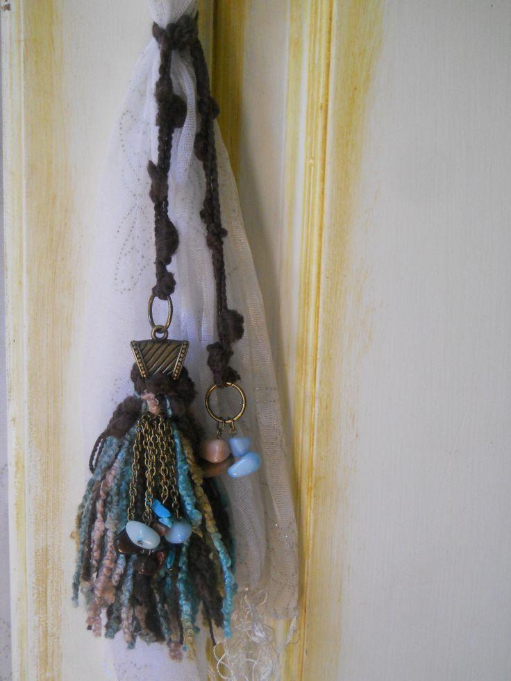 Adorno para cortinas o puertas lazo de lana con terminal - Lazos para cortinas ...