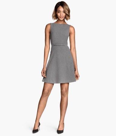 65b3cf51e5115 H M Gray Sleeveless Dress - Comfortable and flattering