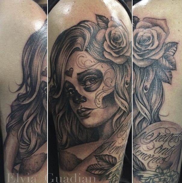 10 best images about catrina on pinterest santa muerte for St george utah tattoo