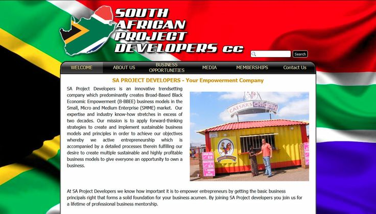 South African Project Developers cc a Black Empowerment company established 1991, aim to establish and grow sustainable BEE projects and businesses. Visit http://www.saprojectdevelopers.co.za