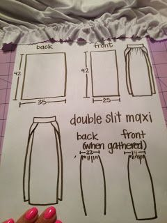 sew jayne: Double slit maxi skirt
