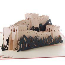Presente de aniversário 3D Pop up cartões de papel grande padrão de parede para aniversário, Dia de presente dos desenhos animados dobrável cartão(China (Mainland))