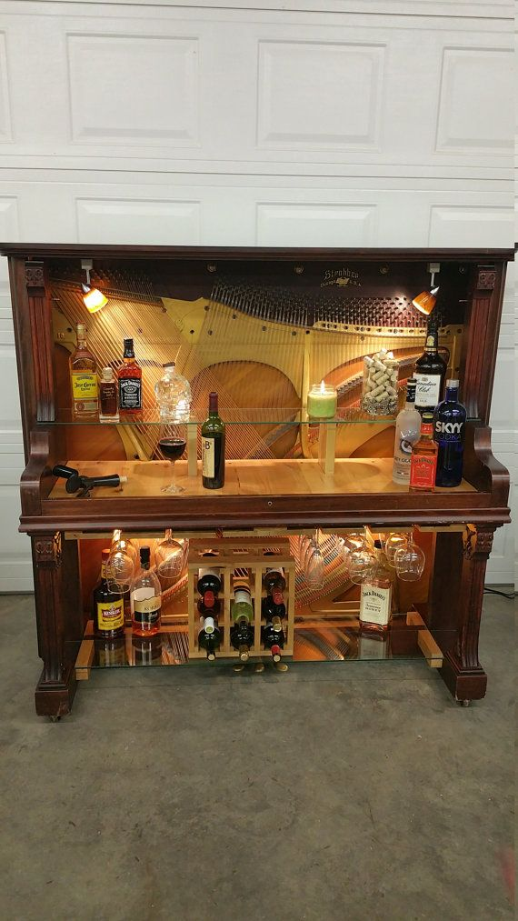 Piano Bar by SassyWoodProducts on Etsy