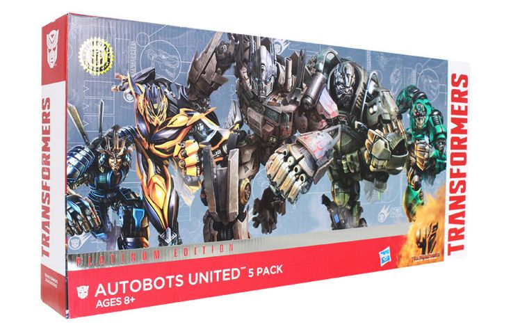 Hasbro Transformers Age of Extinction Exclusive 5 Pack Platinum Autobots United #Hasbro