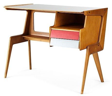 Italian Desk, Attributed To Studio Dassi, 1950u0027s
