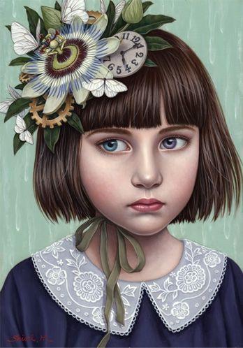 Shiori Matsumoto -ノスタルジックな少女たちの世界を描く松本潮里の絵画作品集