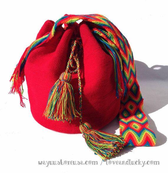 Authentic Wayuu Bag. Wayuu Mochila Bag tightly by loveandlucky, $90.00