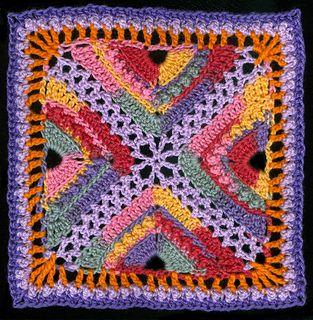 "Bee Hives and Clover Afghan Block - Free 12"" Crochet Square pattern by Joyce Lewis ✿⊱╮Teresa Restegui http://www.pinterest.com/teretegui/✿⊱╮"