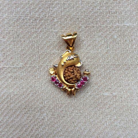 Ganesh Rudraksha Pendant #gold #jewelry #ganesh
