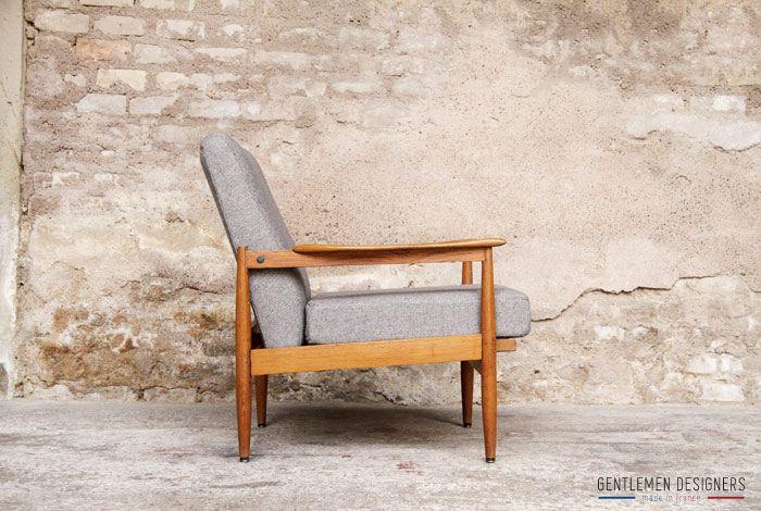 gentlemen designers mobilier vintage made in france fauteuil vintage scandinave r nov. Black Bedroom Furniture Sets. Home Design Ideas