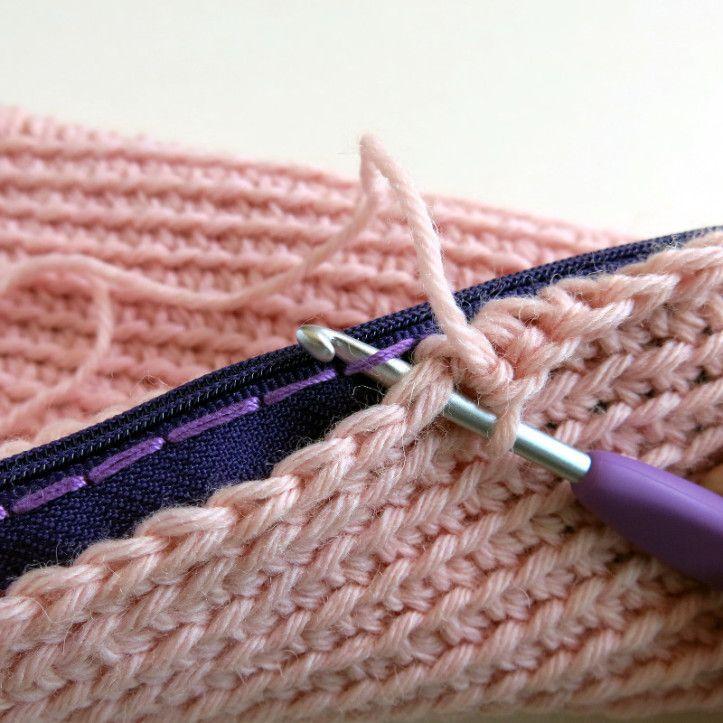 how to add a zipper to crochet