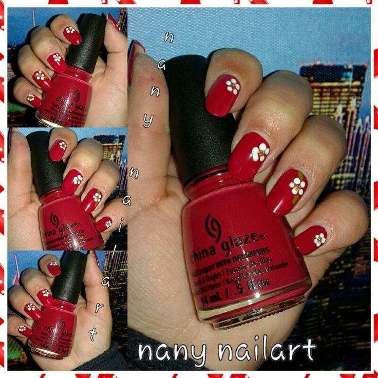 Nail art flowers tip your hat china glaze - french tip white avon - another polish joke opi