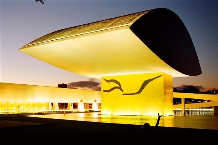 """Curitiba 323 Anos                       Museu Oscar Niemeyer, conhecido como """"Museu do Olho"""""""