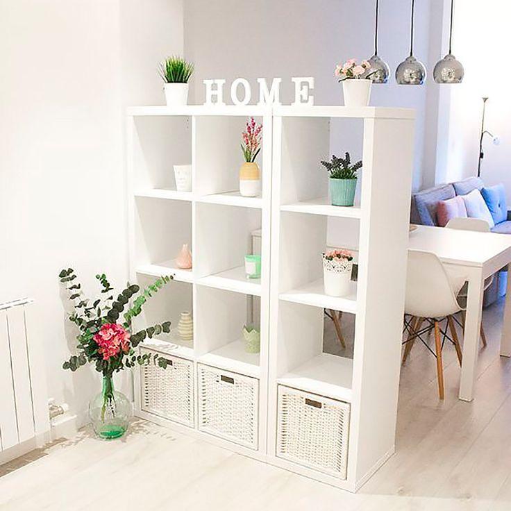 M s de 25 ideas incre bles sobre salones peque os en for Repisas espacios pequenos