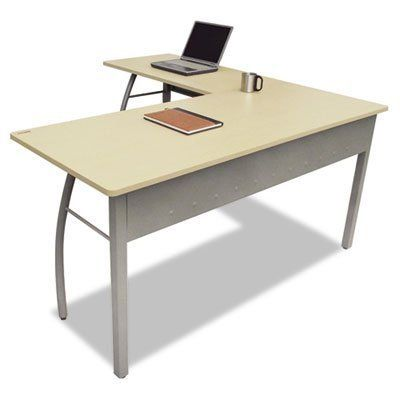 Linea Italia Trento Line L-Shaped Desk by Linea Italia. $240.89. Office Furniture. Desks. Stylish minimalist design for universal appeal. Scratch- and stain-resistant woodgrain laminate with durable PVC edge and strong powder coated steel frame. Configures right or left to suit your needs. Adjustable leveling glides for stability. Quick and easy assembly in just 9 minutes with no tools required. Color: Oatmeal Gray Pedestal Count: N/A Top Shape: L-Shape Top Material: Woodgrain La...