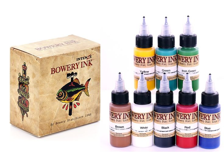 KIT BOWERY INK INTENZE 1ONZ $1,425 www.artetatuaje.mx ventas@artetatuaje.mx