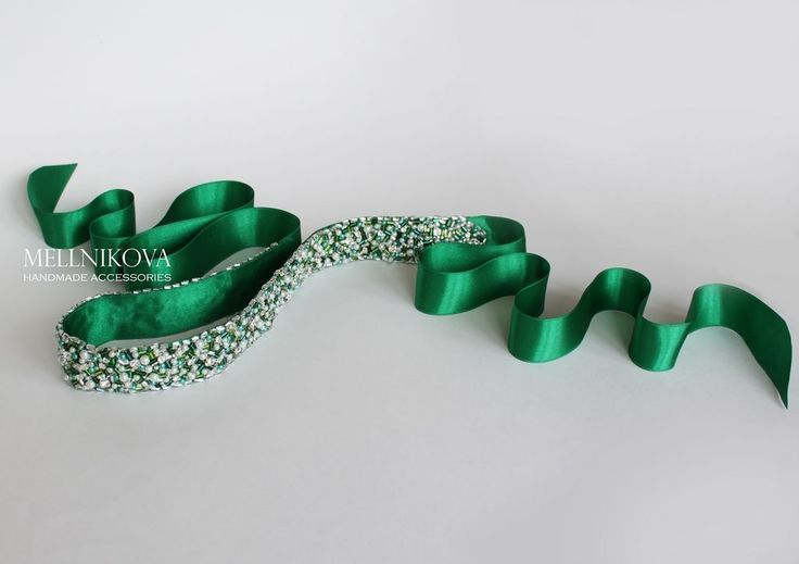 """Купить Пояс для свадебного платья """"Emerald"""" - морская волна, свадебные аксессуары, аксессуары для свадьбы"""