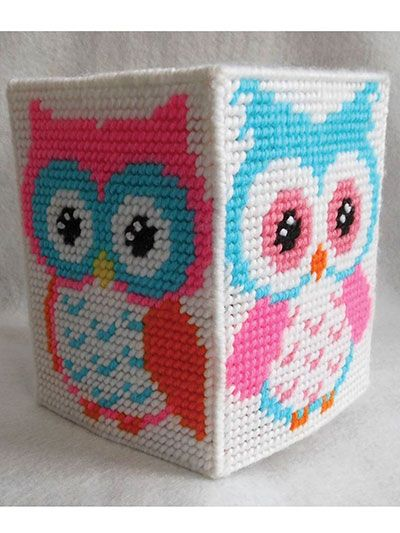 Needlework Plastic Canvas - Hootiful Owl Decor - #A837575
