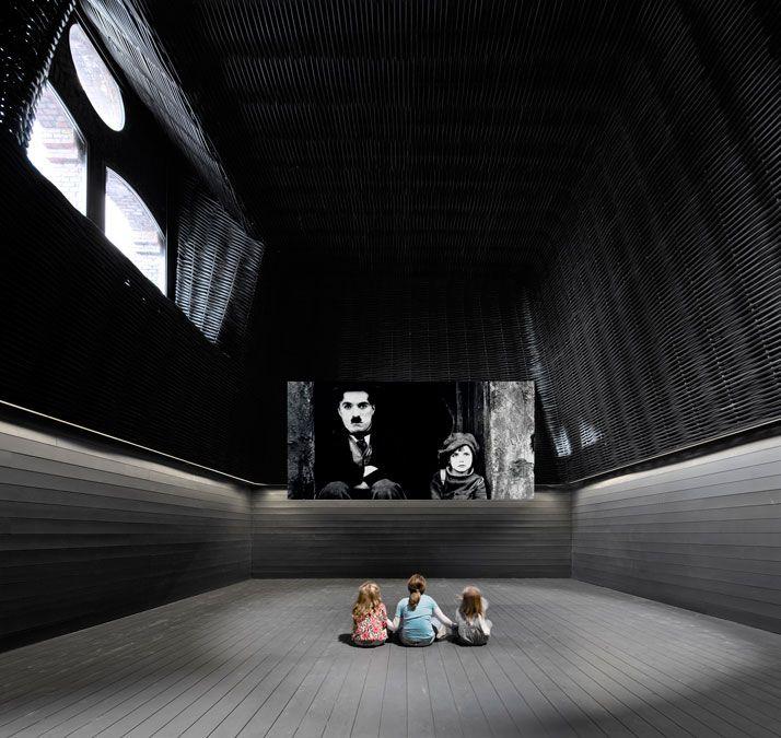 churtichaga+quadra salcedo (ch+qs) architects turned an old slaughterhouse in Legazpi, Madrid into a public cinema center: Sala De Cinema, Madrid Spain, Architects, Slaughterhouse, Cinema Center, Quadra Salcedo, Movie Theater, Interiors Design, De Legazpi