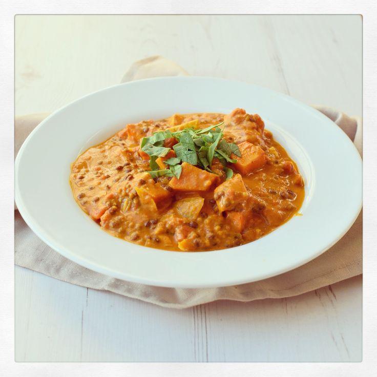 Süßkartoffel Linsen Curry