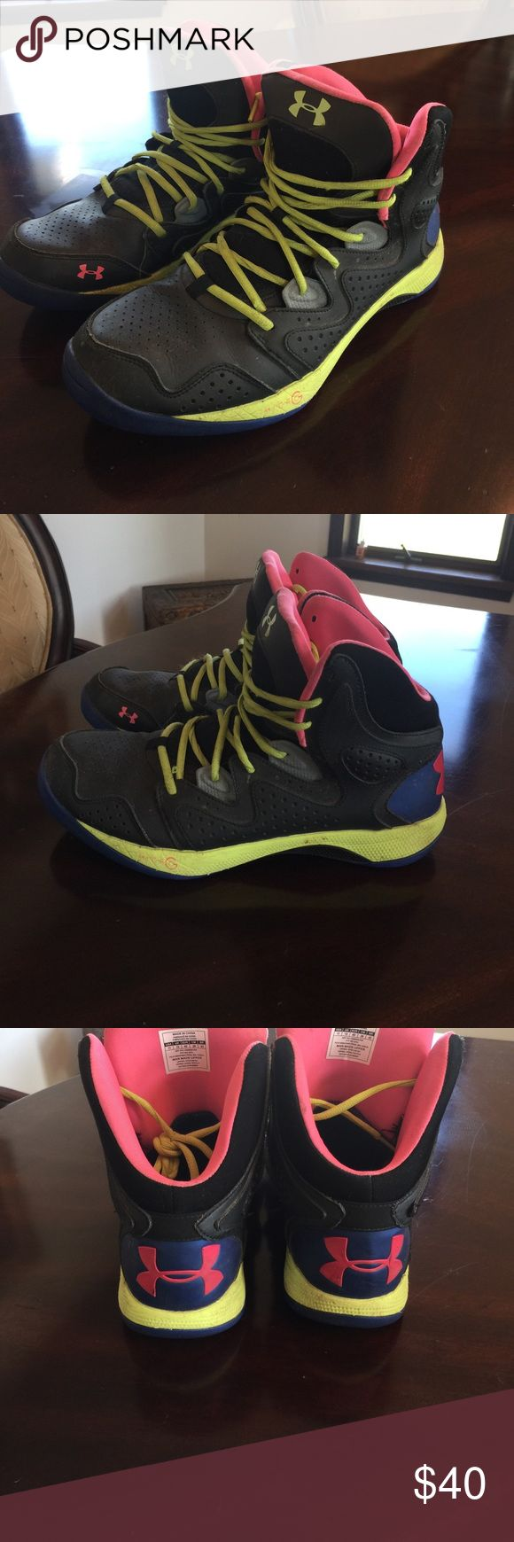 UnderArmor high top basketball shoes Size 11 Good condition, with original box Under Armour Shoes Athletic Shoes