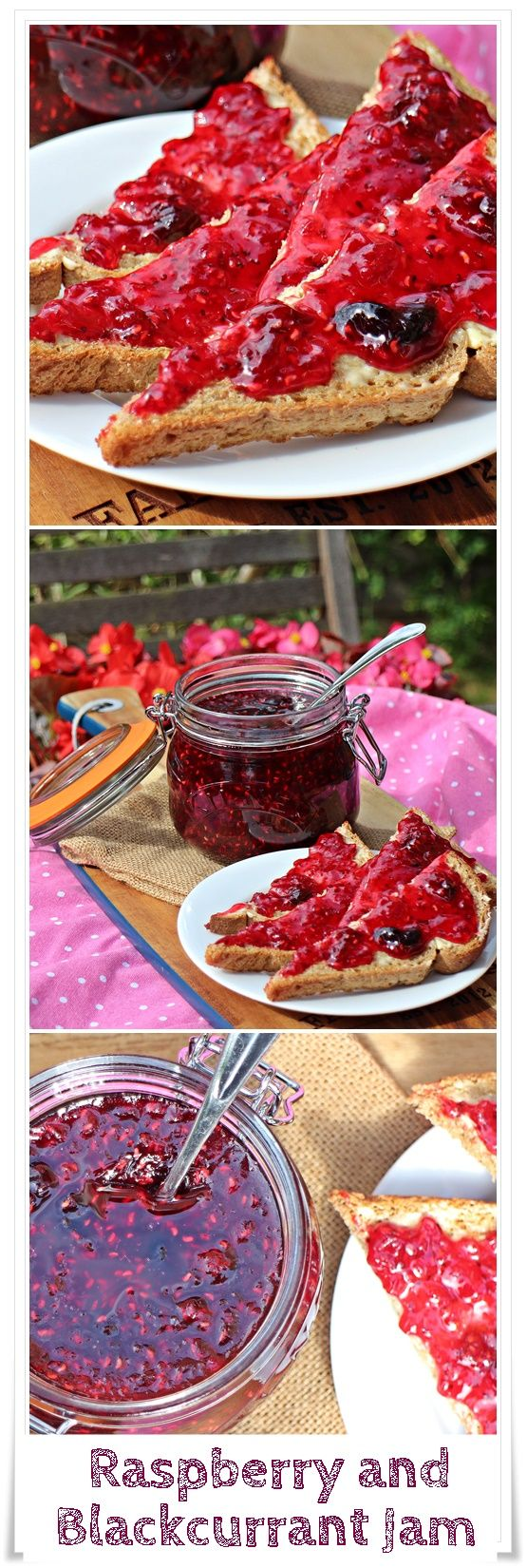 Raspberry and Blackcurrant Jam - Fab Food 4 All