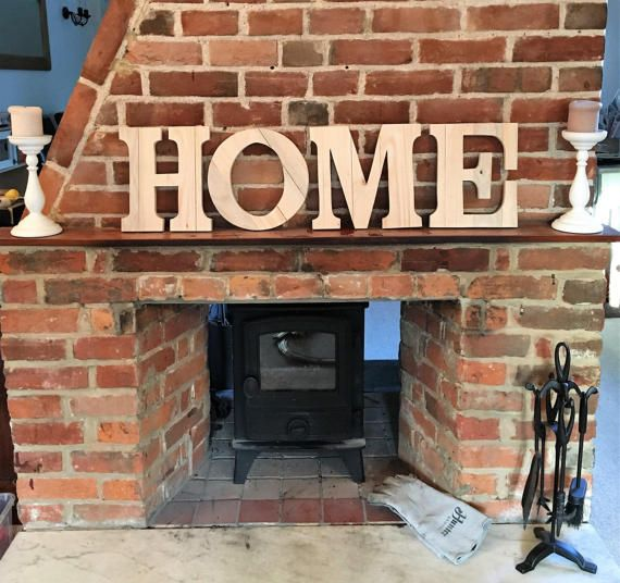 This wooden home sign is lovingly crafted from reclaimed pallet wood. Resting on the mantel, placed on a shelf or hanging on the wall, this rustic home sign makes for a perfect addition to any room. Hand Made This wooden sign has no stain or varnish, it is sanded smooth and the raw beauty of the weathered reclaimed wood with its original saw marks and nail holes is left free from a finish to achieve a rustic feel. Although mainly made from reclaimed pallet wood, there is a thin backing board…
