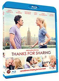 Recension av Thanks for Sharing. Drama av Stuart Blumberg med Mark Ruffalo, Gwyneth Paltrow, Tim Robbins, Josh Gad, Alecia Moore och Joely Richardson.
