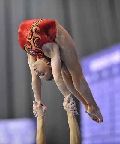 2008 Acrobatic Gymnastics World Championships Women Pair (GBR) Katie Axten and Elizabeth Olivier